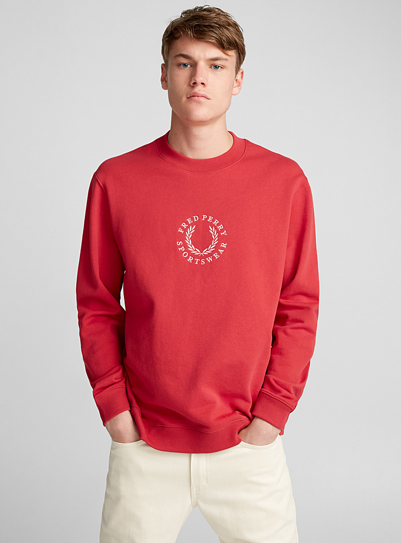 Le sweat logo authentique - Sweats et kangourous - Rouge