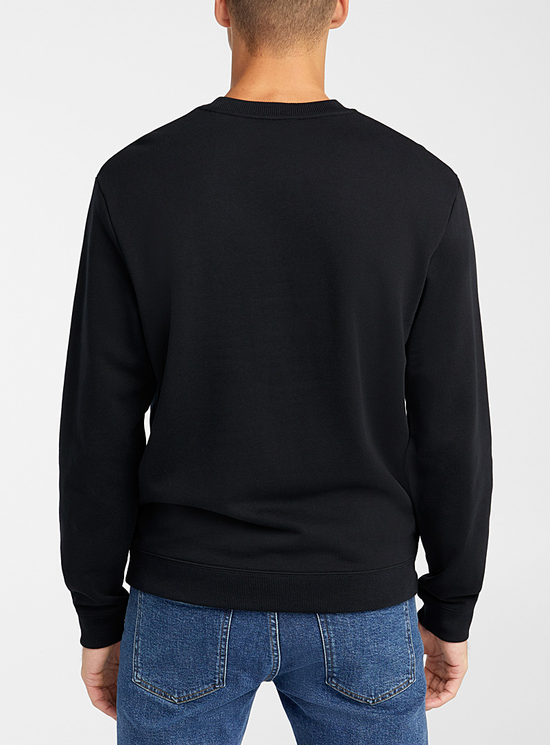 Fred Perry Black Embroidered emblem sweatshirt for men