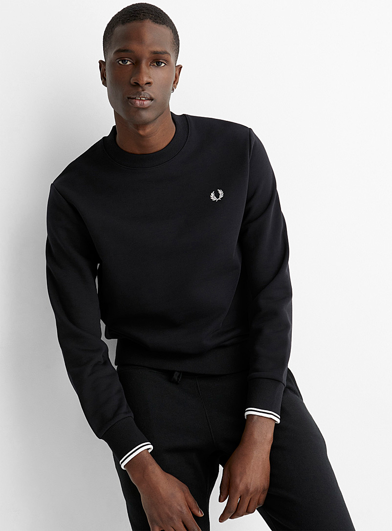 Fred Perry Mossy Green Embroidered emblem sweatshirt for men