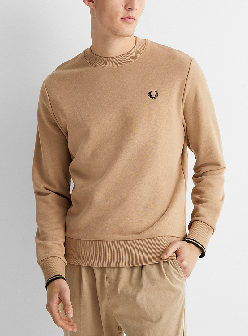 Fred Perry Fawn Embroidered emblem sweatshirt for men