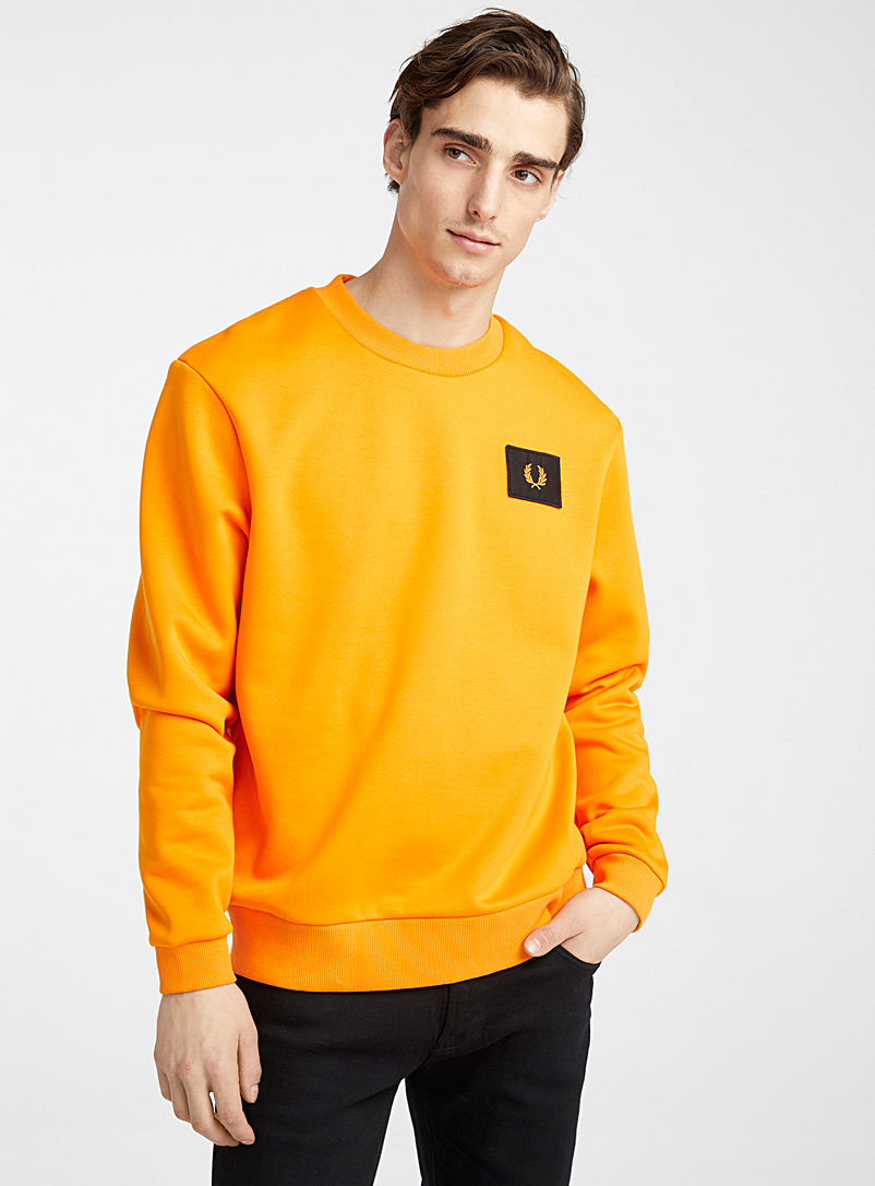 Fred Perry Orange Logo badge sweatshirt for men