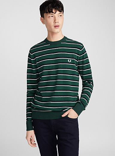 Le pull texturé rayures duo