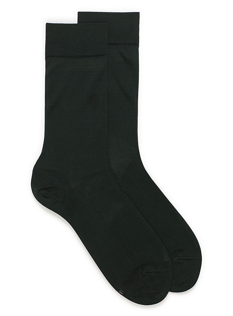 Excellence lisle socks - Dressy socks - Green