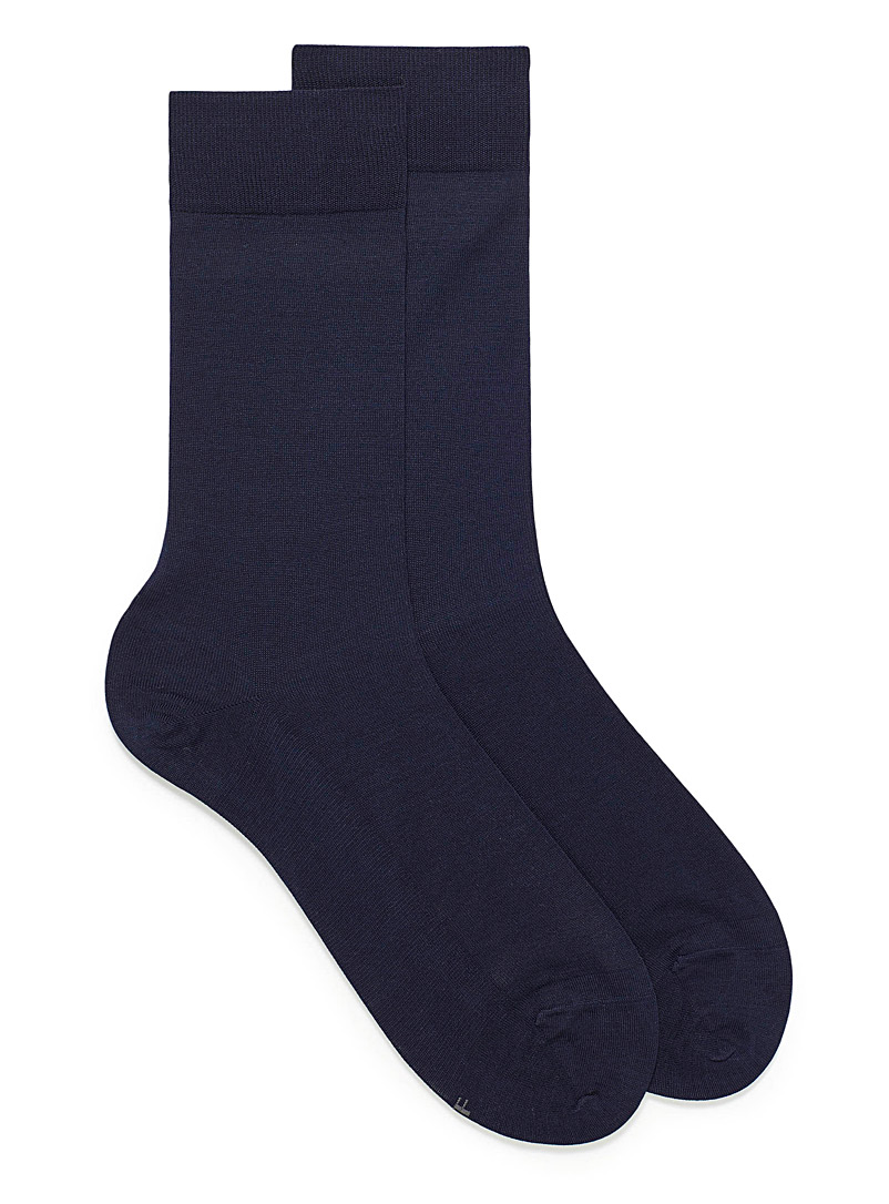 Bleuforêt Marine Blue Excellence lisle socks for men
