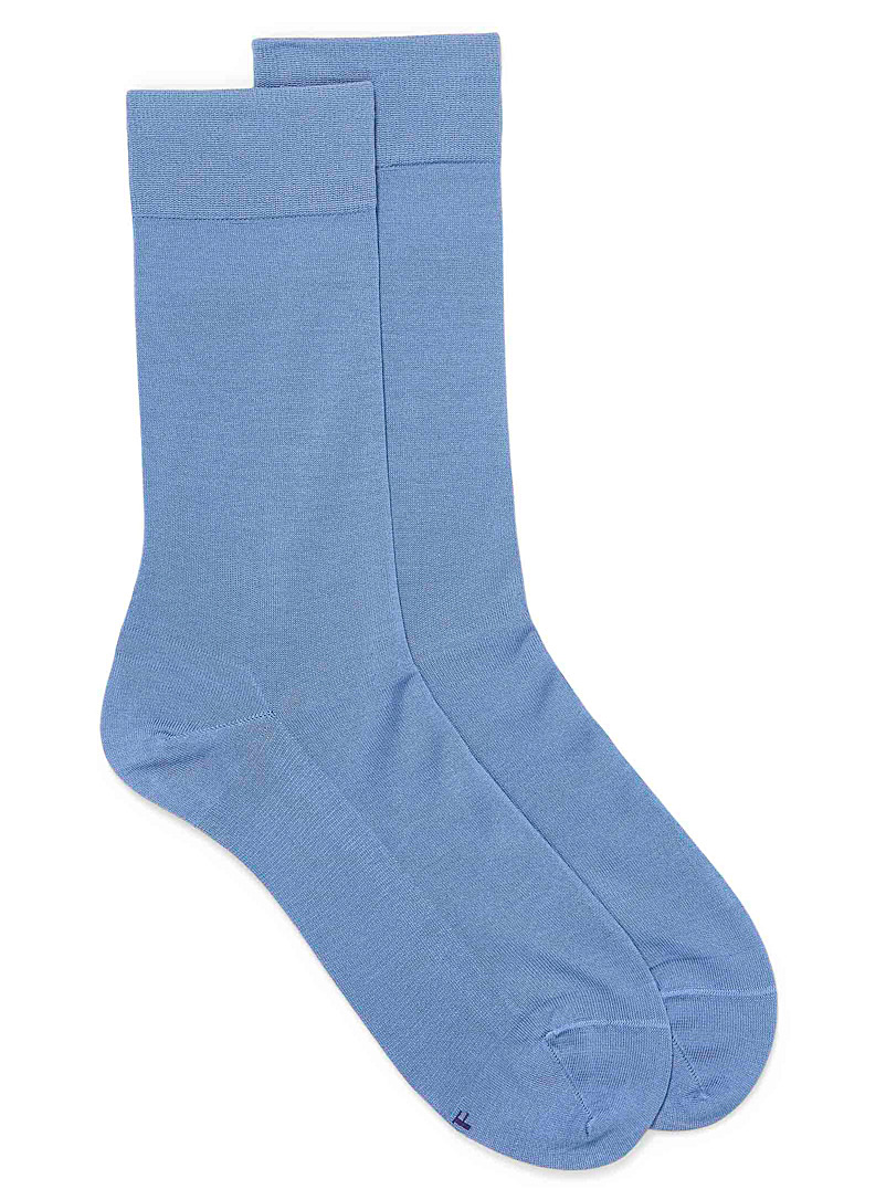 Bleuforêt Baby Blue Excellence lisle socks for men