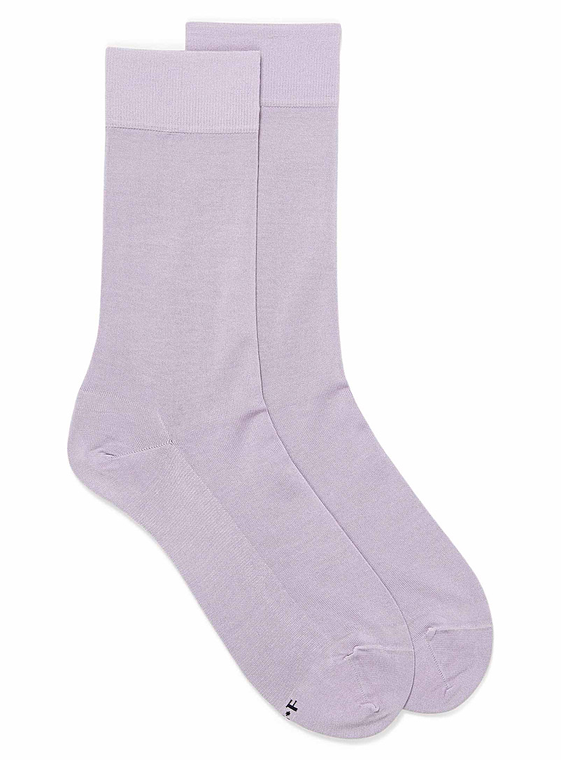 Bleuforêt Lilacs Excellence lisle socks for men