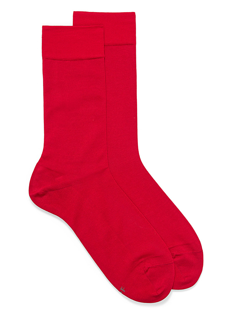 Bleuforêt Red Excellence lisle socks for men