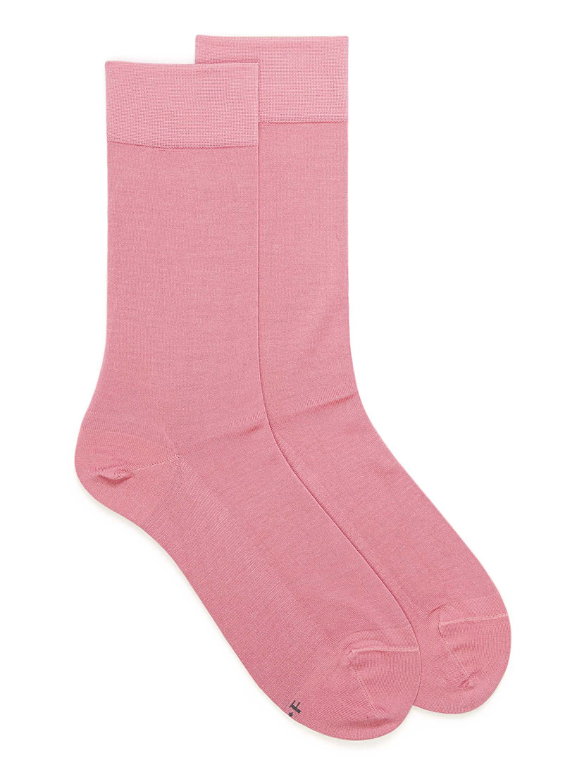 Bleuforêt Pink Excellence lisle socks for men