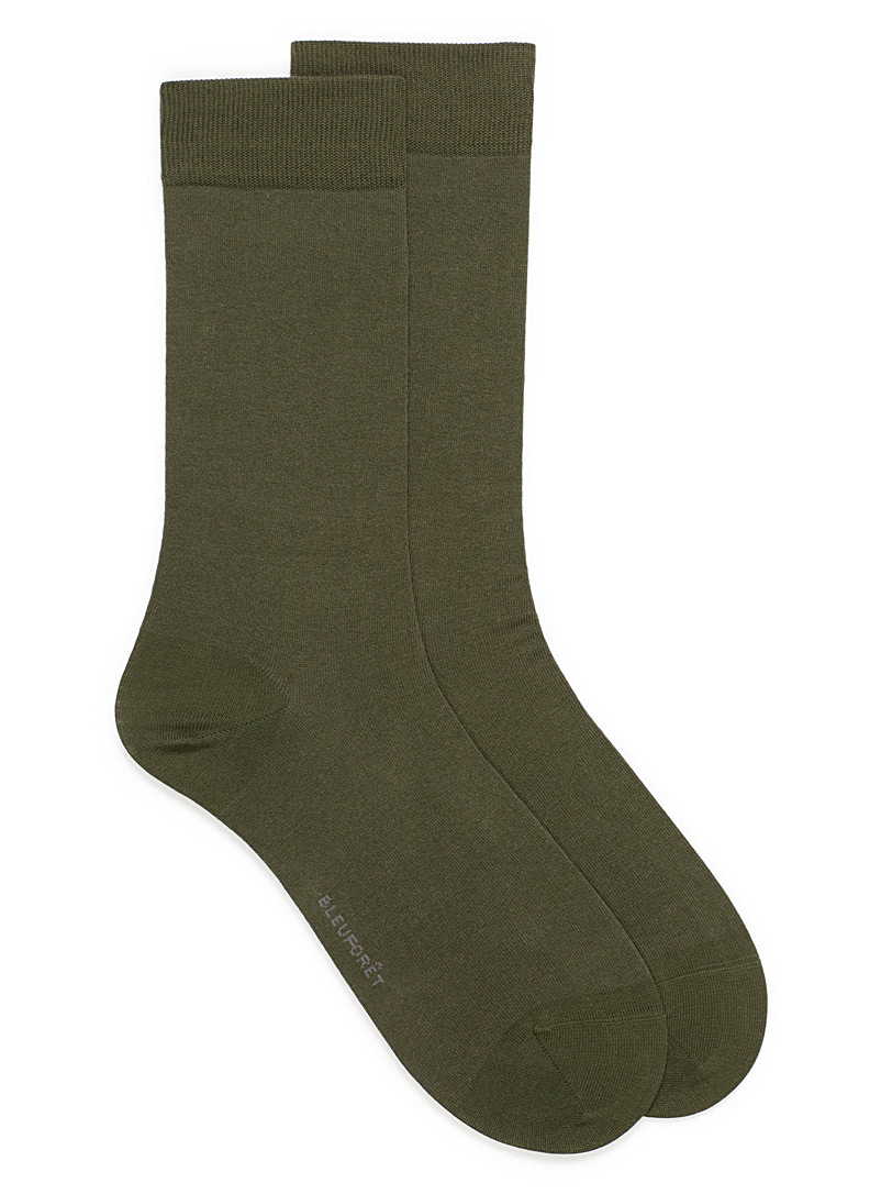 Seamless Egyptian cotton socks - Dressy socks - Khaki