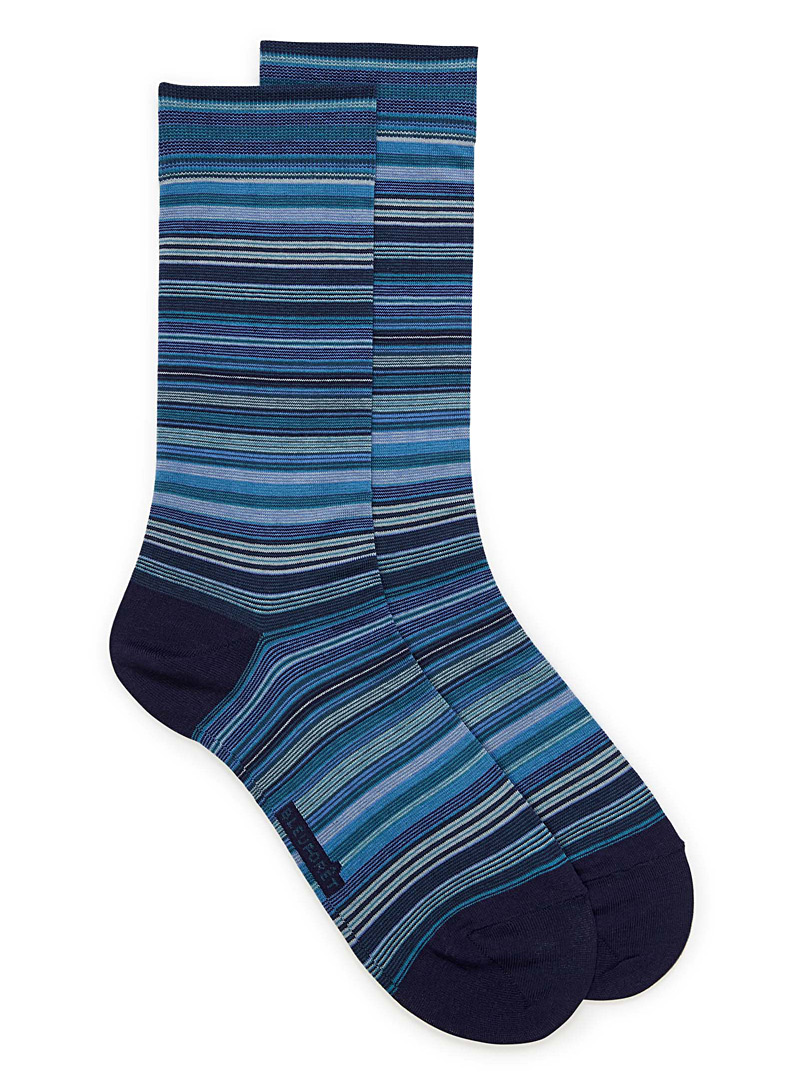 Colourful pinstripe socks - Dressy socks