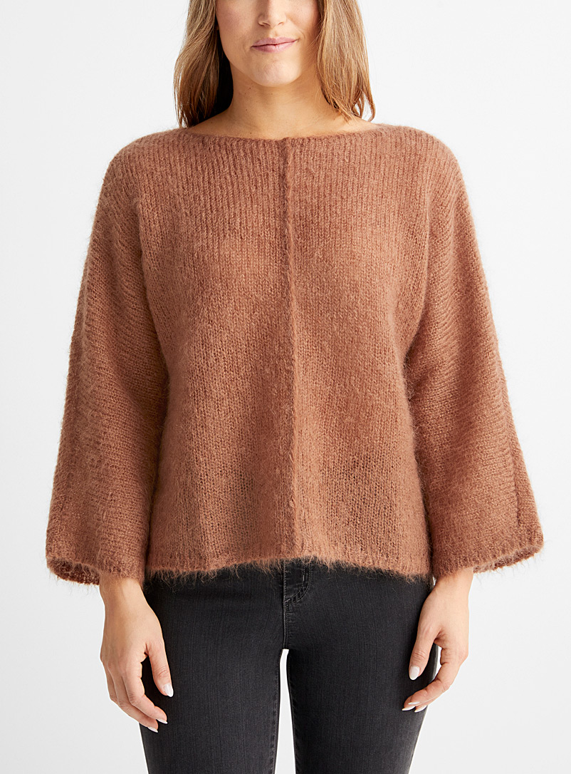 Le pull ample mohair