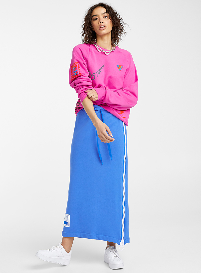 Nike Blue Oversized zip sweatshirt skirt for women