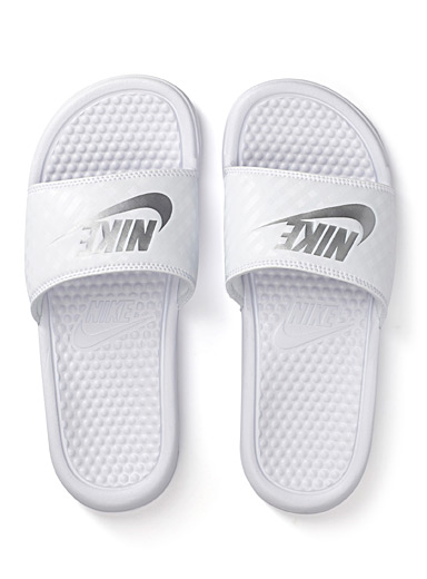Nike White Benassi slides  Women for women