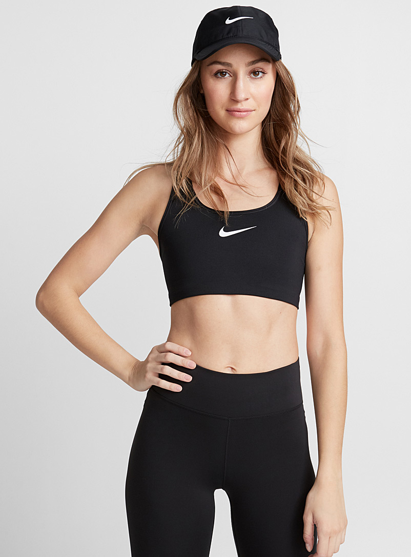 Nike Black Swoosh Pro Classic bra for women