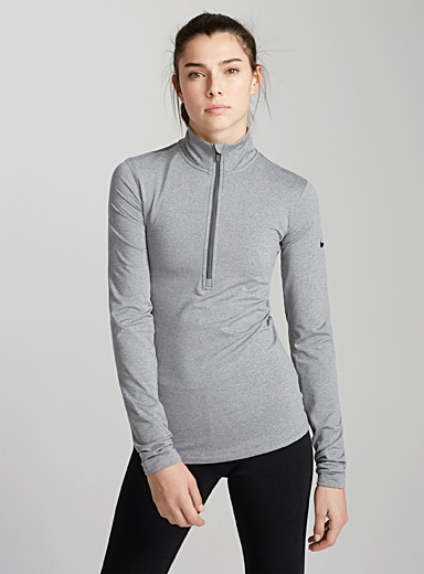Element micro-perforated back half-zip