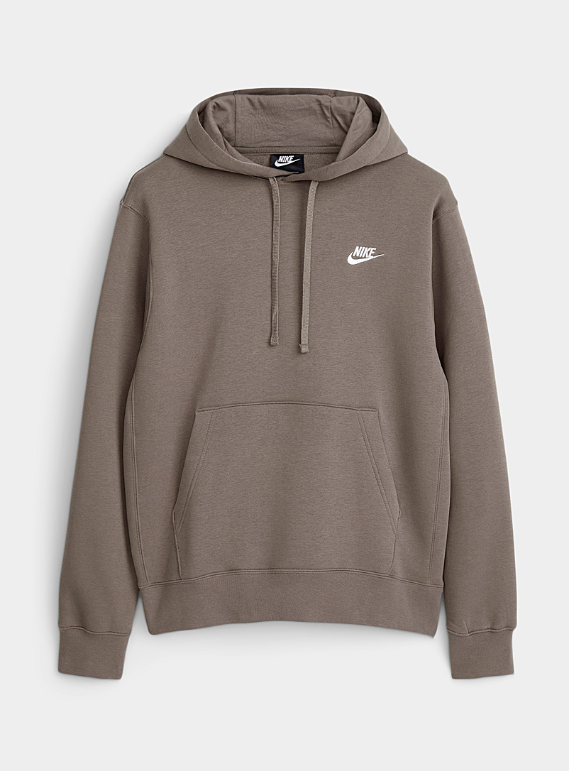 Nike Grey Embroidered Swoosh hoodie for men