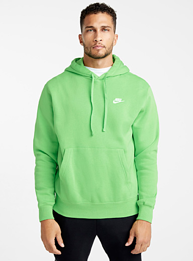 Embroidered Swoosh hoodie