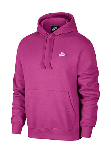 Nike Pink Embroidered Swoosh hoodie for men
