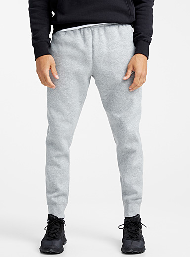 Embroidered Swoosh tapered joggers
