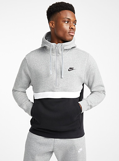 Club colour block half-zip sweatshirt