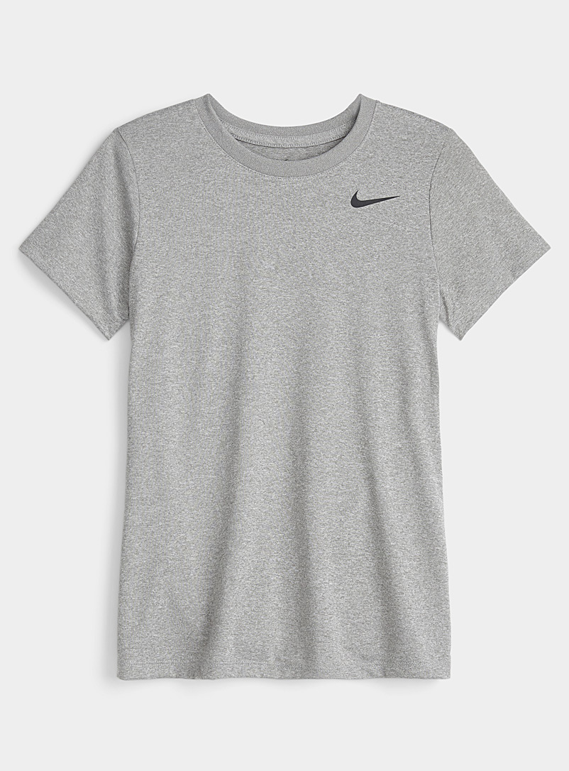 Nike Charcoal Dri-Fit mini-logo T-shirt for women