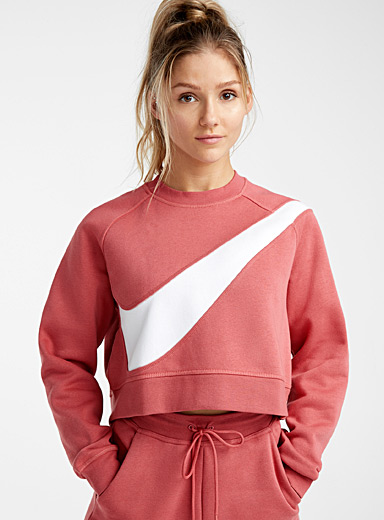Giant Swoosh cropped sweatshirt