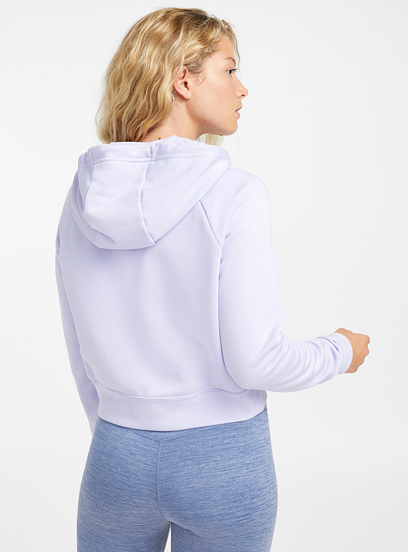 Le sweat à capuche court - Chandails - Lilas