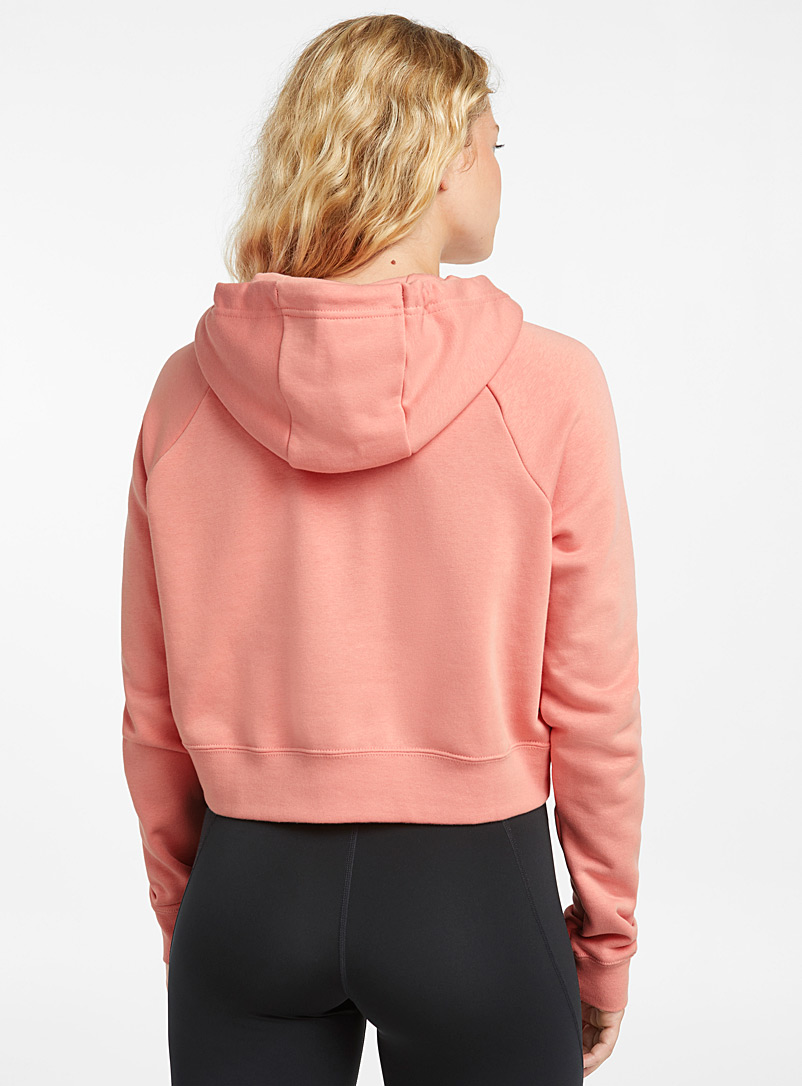 Nike Dusky Pink Cropped hoodie for women