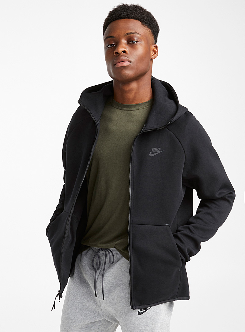 Tunnel hood minimalist jacket - Jackets - Black