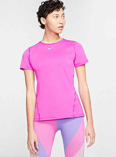 Nike Pink Micro perforated training tee for women