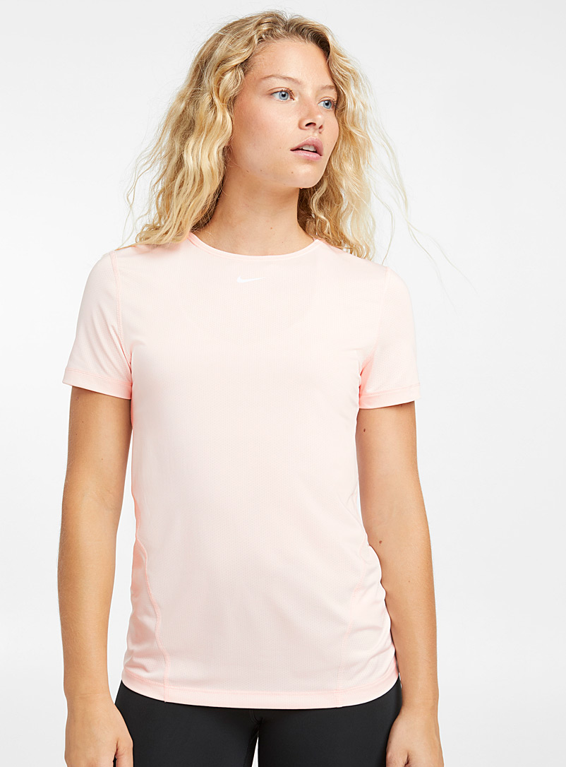 Micro perforated training tee - T-shirts - Dusky Pink