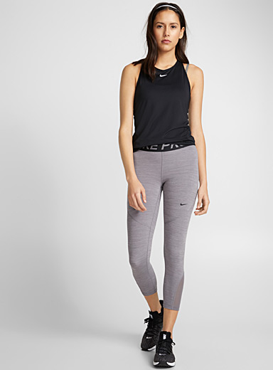 Nike Grey Cropped mesh-insert legging for women