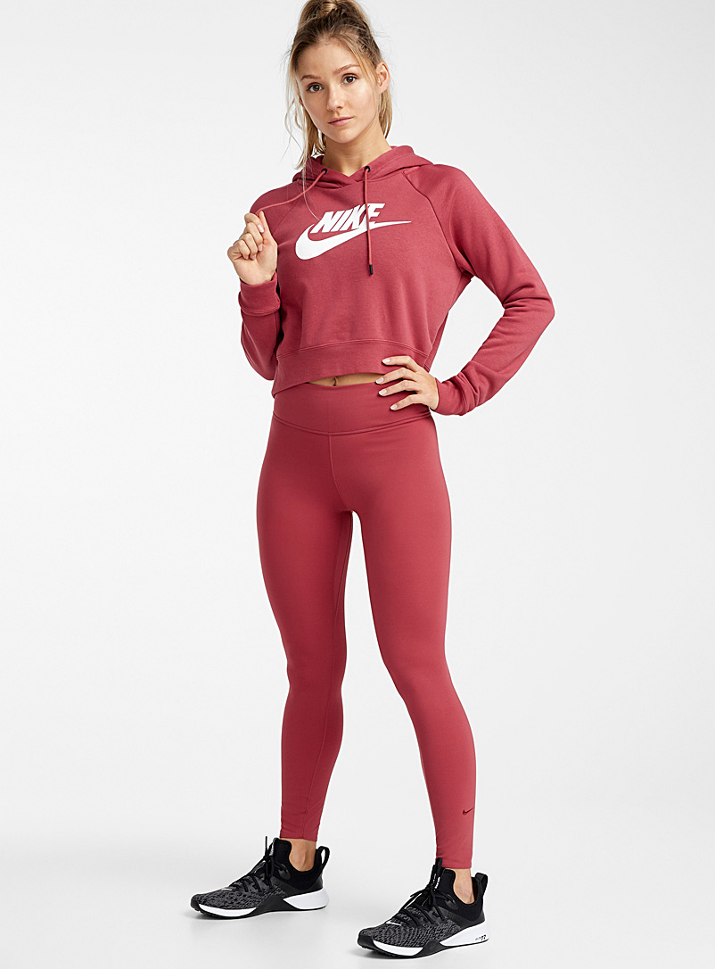 One Luxe solid 7/8 legging - Leggings - Cherry Red