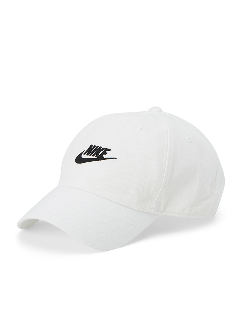 Nike White Futura faded canvas cap for men