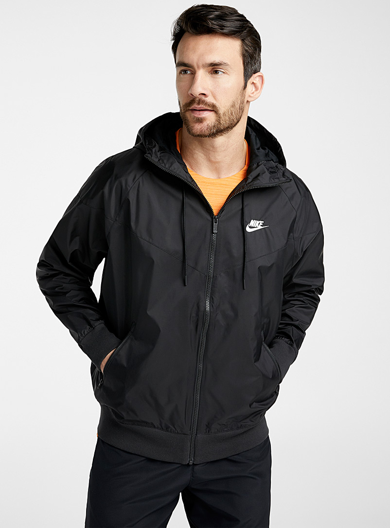 Nike Black Topstitched block windbreaker jacket for men
