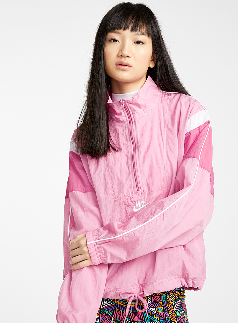 Nike Pink Candy-pink sporty anorak for women