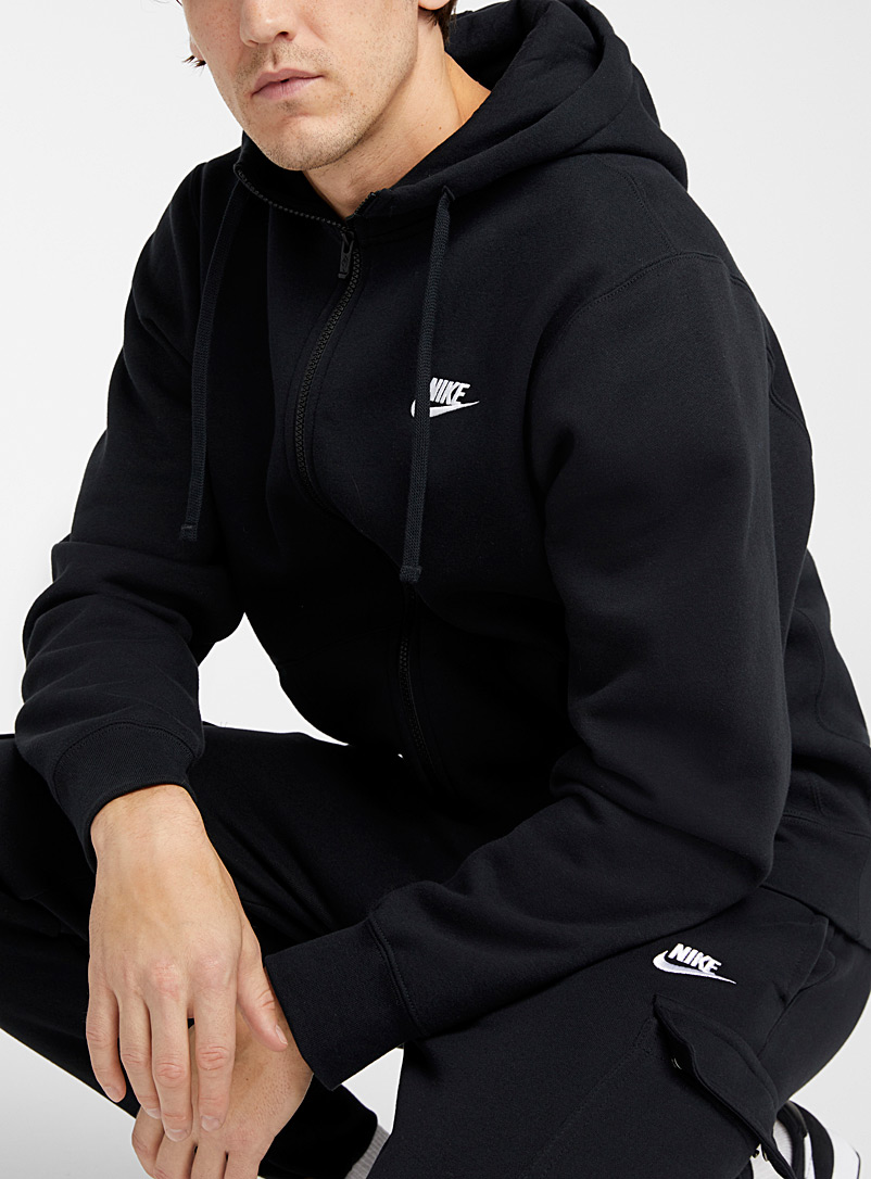 Club hooded zip sweatshirt