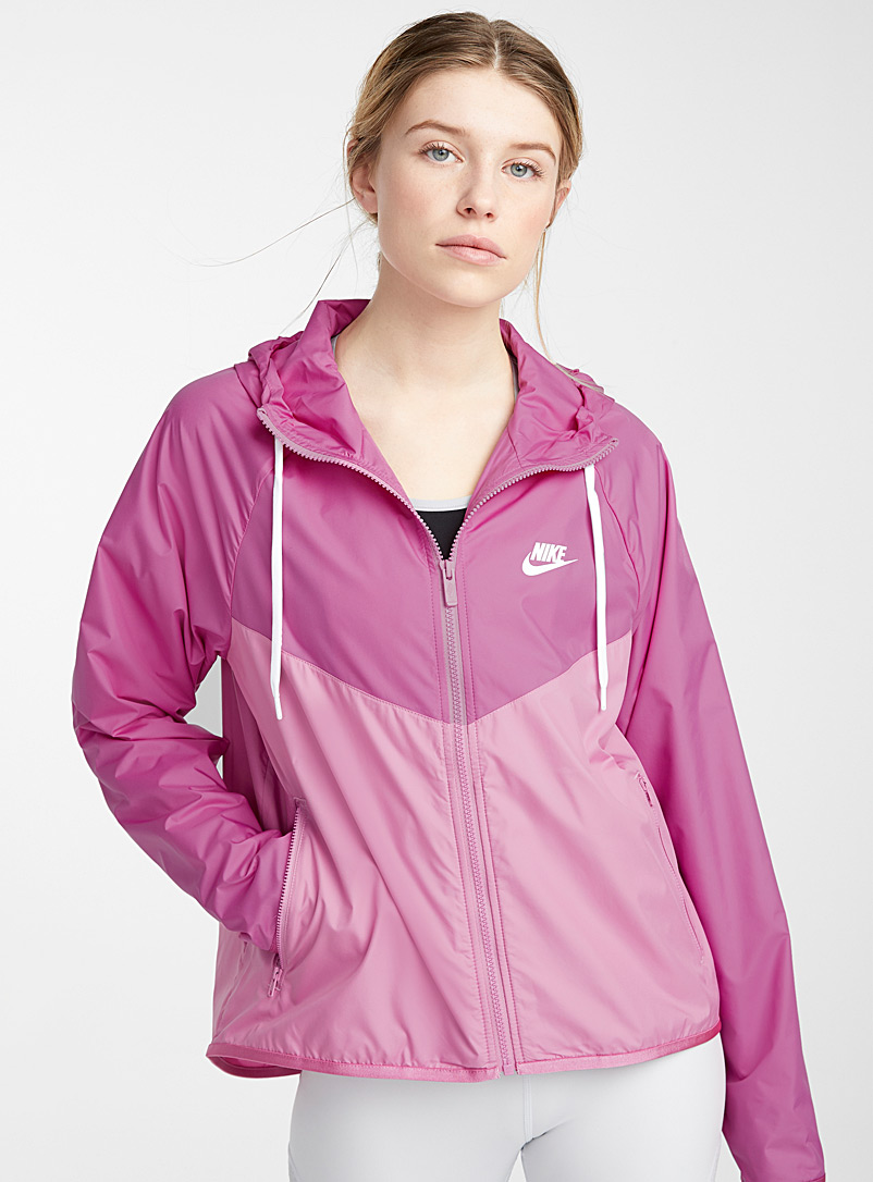 Nike Pink Herringbone windbreaker jacket for women