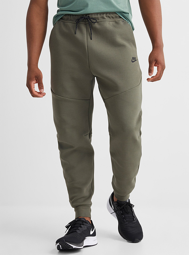Nike Mossy Green Tech Fleece angular seam joggers for men