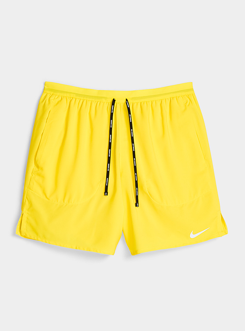 Nike Bright Yellow Flex Stride ultra light short for men