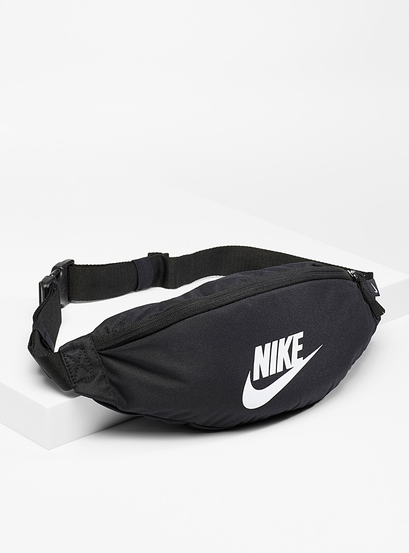 Nike Black Heritage multi-pocket belt bag for men