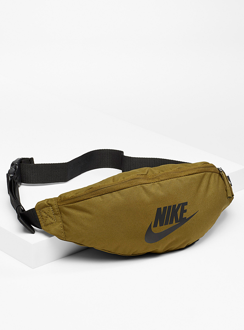 Nike Khaki Heritage multi-pocket belt bag for men