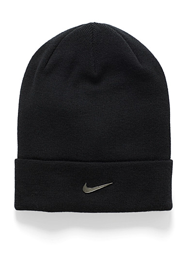 Nike Black Swoosh logo tuque for men