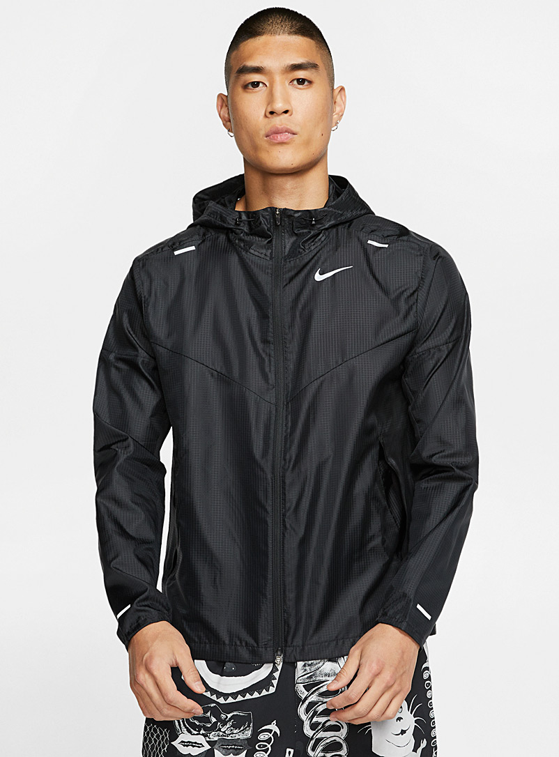 Nike Black Windrunner lightweight windbreaker for men