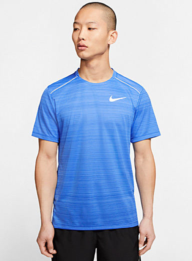Miller microfibre striped tee