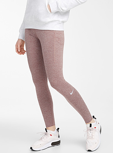Nike Medium Crimson Epic Lux heathered legging for women