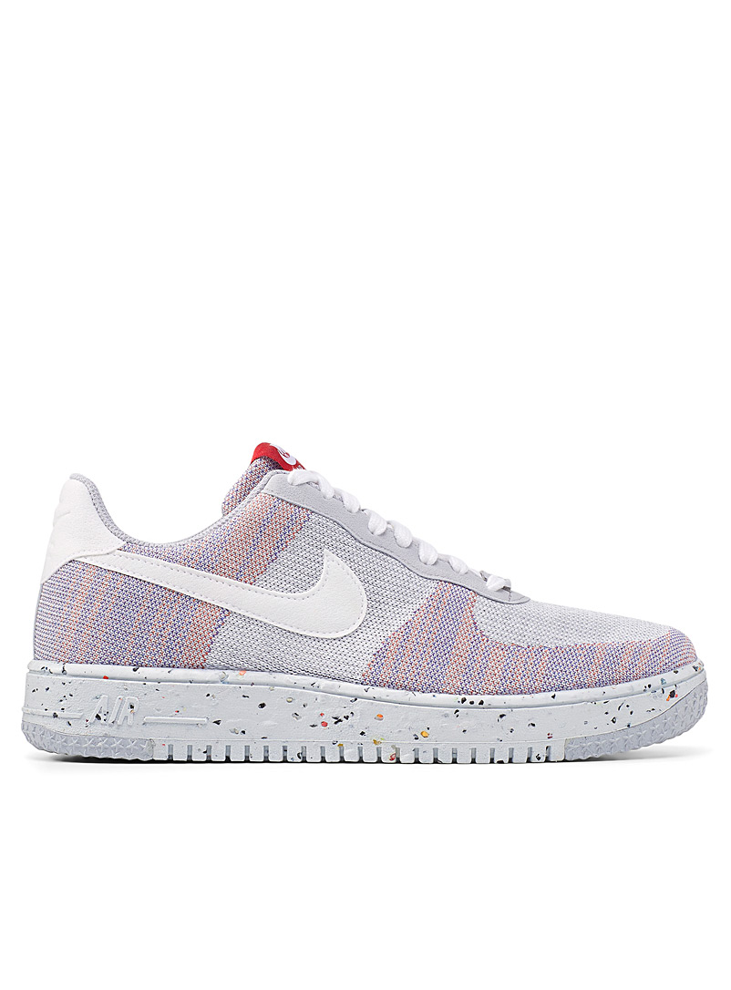 Nike Light Grey Recycled Air Force 1 Crater Flyknit sneakers Men for men