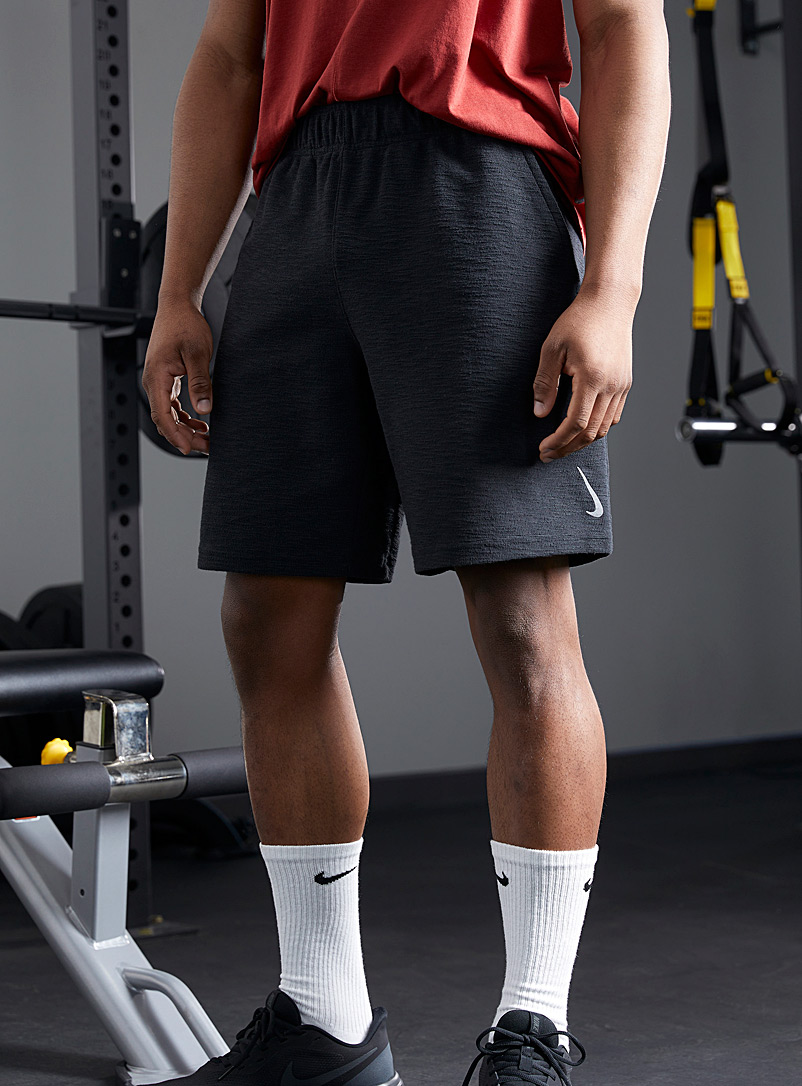 Nike Black Yoga Core active terry short for men