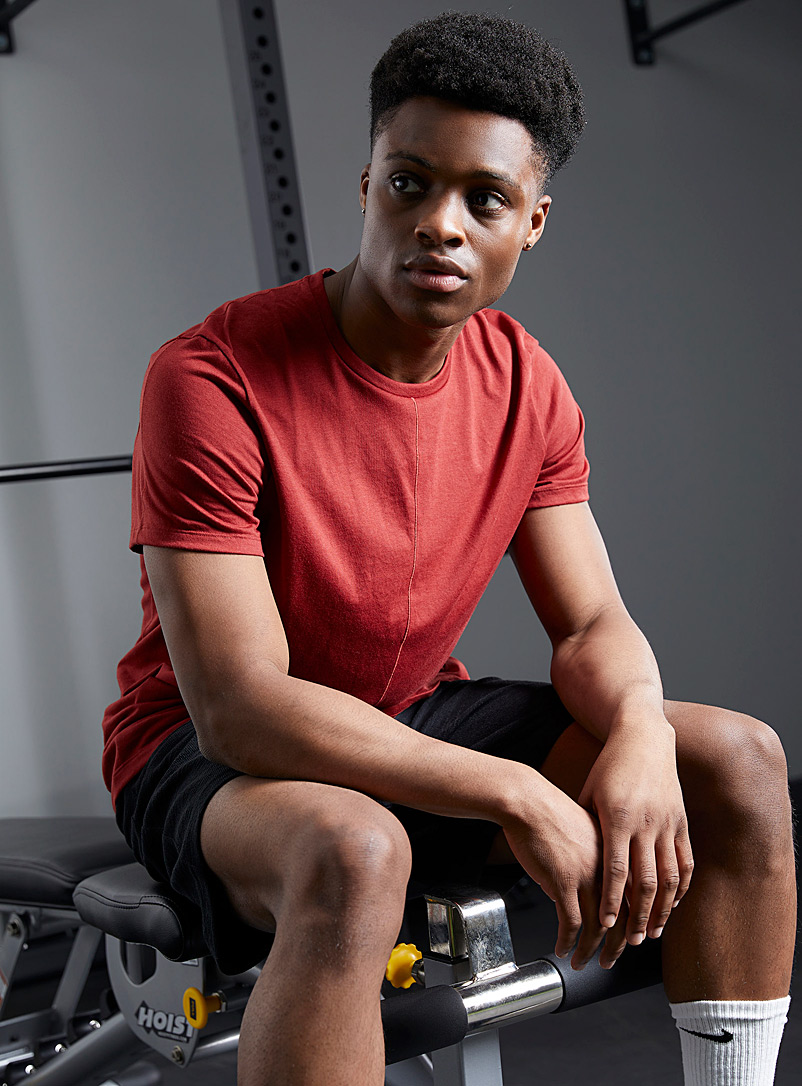 Nike Light Red Yoga Core loose tee for men