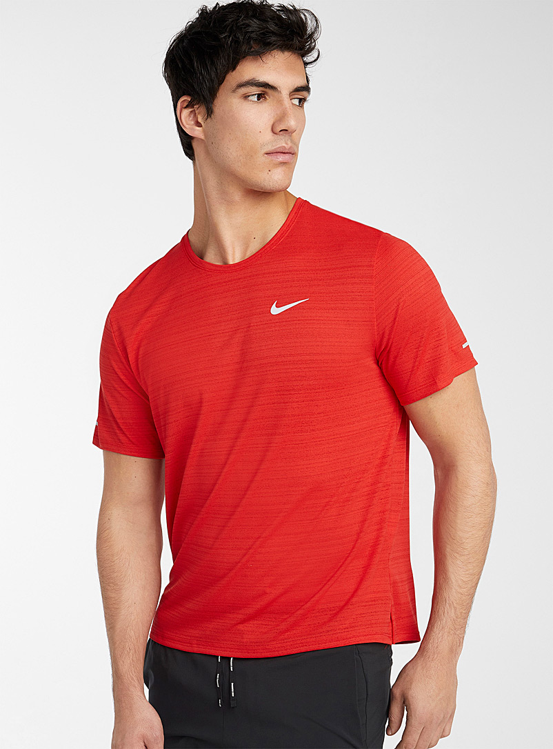 Nike Sapphire Blue Miler breathable heathered jersey T-shirt for men